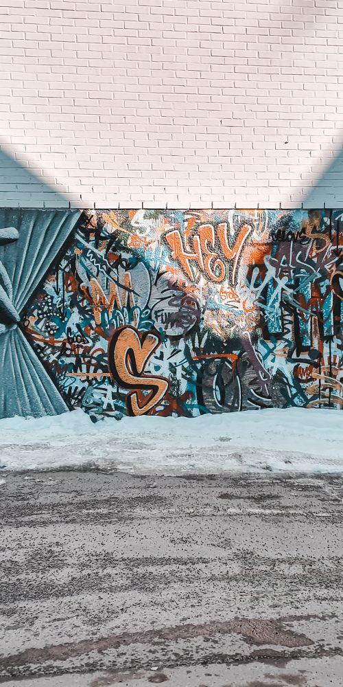 Juxtapositions of interactions in graffiti